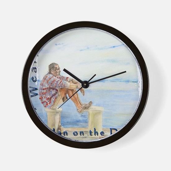 Man on the Docks Wall Clock