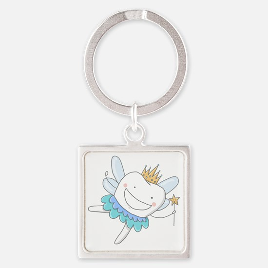 Tooth Fairy Square Keychain