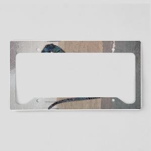 Beautiful Blue License Plate Holder