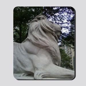 Lion at the Library Mousepad