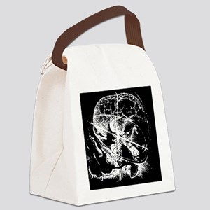 davinciskull_invert Canvas Lunch Bag