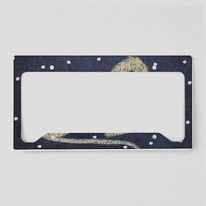 Denim Star License Plate Holder