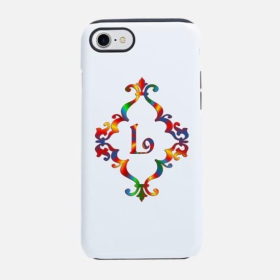 Colorful Letter L Monogram Ini iPhone 7 Tough Case