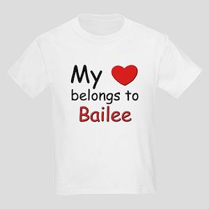 My heart belongs to bailee Kids T-Shirt