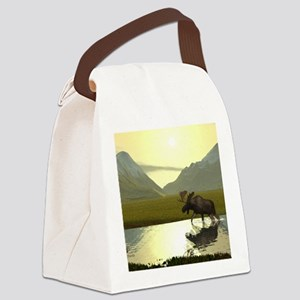 Afternoon Moose Canvas Lunch Bag