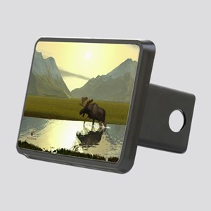 Afternoon Moose Rectangular Hitch Cover
