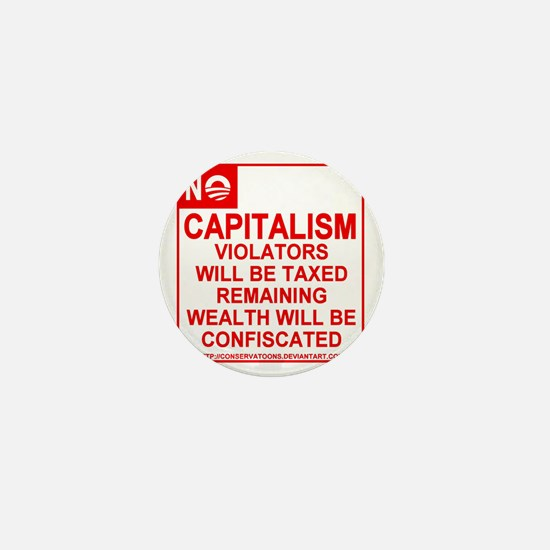 No Capitalism Mini Button