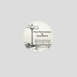 park-avenue-park-bench Mini Button