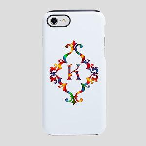 Colorful Letter K Monogram Ini iPhone 7 Tough Case