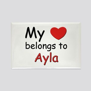 My heart belongs to ayla Rectangle Magnet