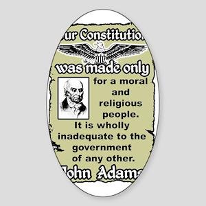 adamsnew Sticker (Oval)