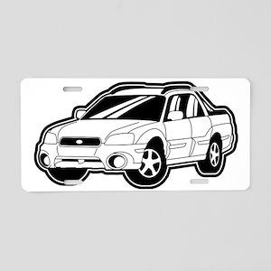 baja_white Aluminum License Plate