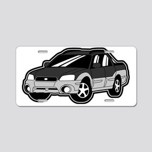 baja_black Aluminum License Plate