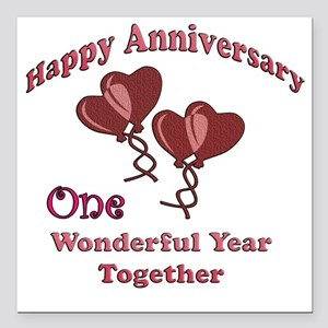 """two hearts 2 copy Square Car Magnet 3"""" x 3"""""""