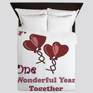 two hearts 2 copy Queen Duvet