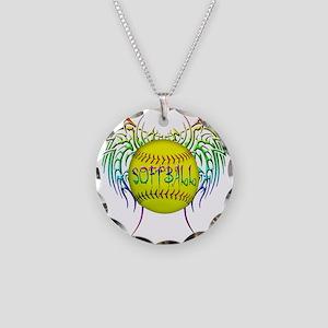 Buffy softball  Necklace Circle Charm