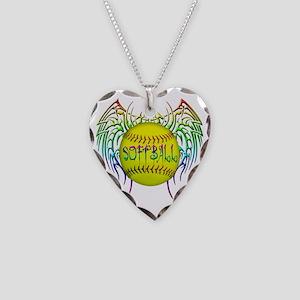 Buffy softball  Necklace Heart Charm
