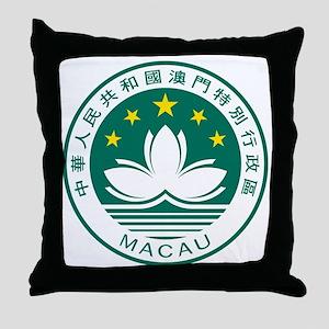 MacauCoatOfArms1 Throw Pillow
