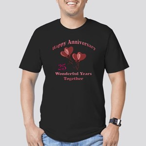 two hearts 25 Men's Fitted T-Shirt (dark)