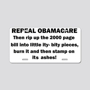 1repeal obamacare Aluminum License Plate