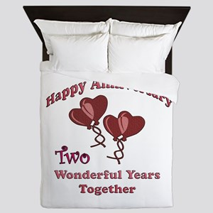 two hearts two Queen Duvet