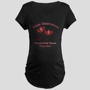 two hearts 60 Maternity Dark T-Shirt