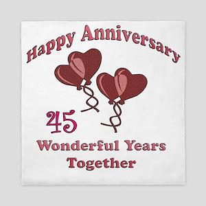 two hearts 45 Queen Duvet