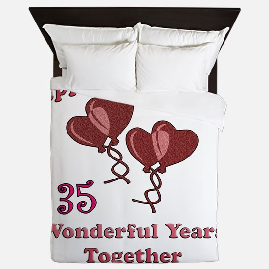 two hearts 35 Queen Duvet