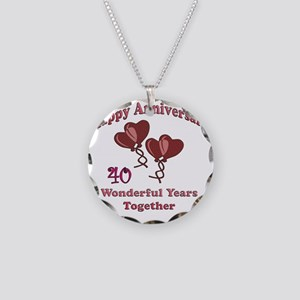 two hearts 40 Necklace Circle Charm