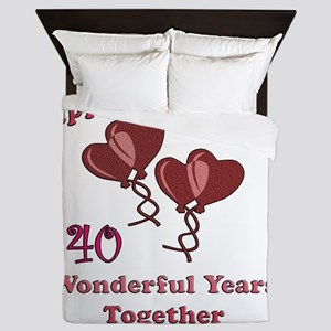 two hearts 40 Queen Duvet