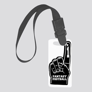 FantasyFootball_FoamFinger_Black Small Luggage Tag