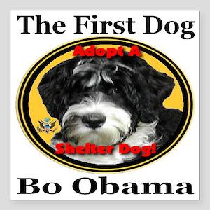 "Bo_adopt_a_shelter_dog_l Square Car Magnet 3"" x 3"""