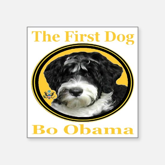 "the_First_Dog_transparent10 Square Sticker 3"" x 3"""