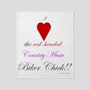 HeartTheBikerChick Throw Blanket