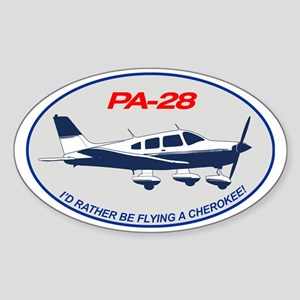 Id Rather be Flying a Cherokee! Sticker (Oval)