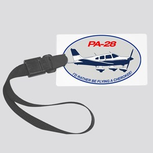 Id Rather be Flying a Cherokee! Large Luggage Tag
