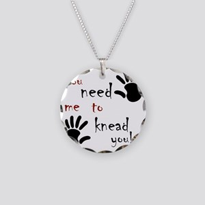 2-need to knead2 Necklace Circle Charm