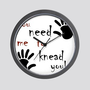 2-need to knead2 Wall Clock
