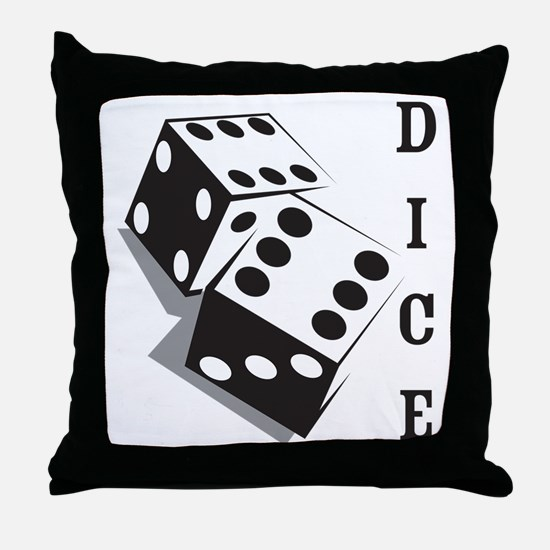 dice1 Throw Pillow