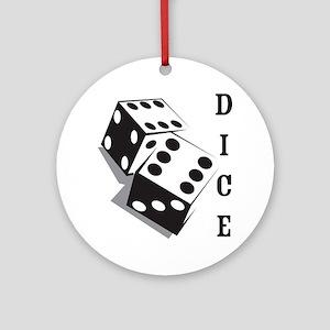 dice1 Round Ornament