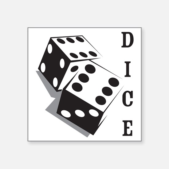 "dice1 Square Sticker 3"" x 3"""