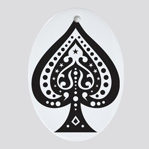 Spade1 Oval Ornament