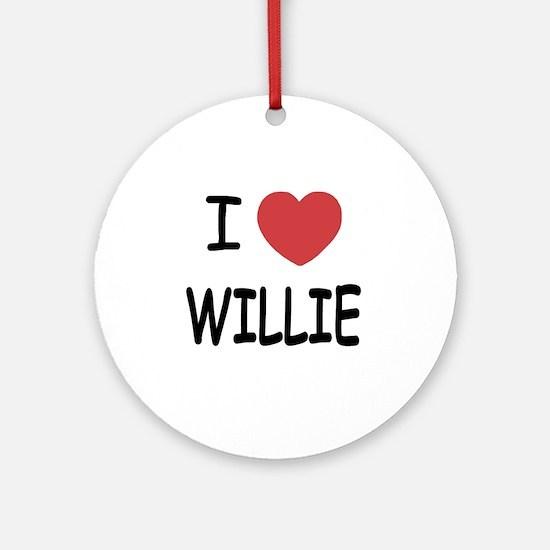 WILLIE Round Ornament