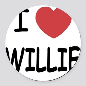 WILLIE Round Car Magnet
