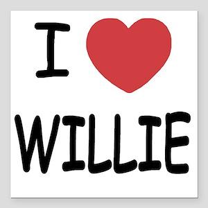 "WILLIE Square Car Magnet 3"" x 3"""