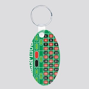 Roulette1 Aluminum Oval Keychain