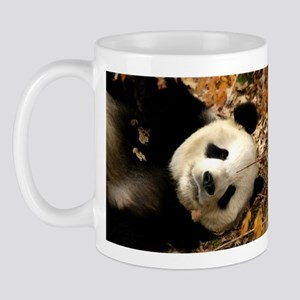 Tai Shan resting in leaves Mug