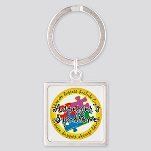 Asperger-Syndrome-Puzzle-Pin Square Keychain