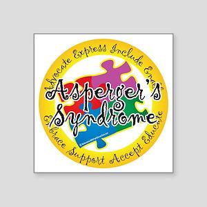 """Asperger-Syndrome-Puzzle-Pi Square Sticker 3"""" x 3"""""""