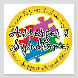 "Asperger-Syndrome-Puzzle Square Car Magnet 3"" x 3"""